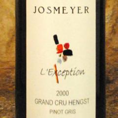 Alsace Grand Cru Hengst - L'Exception 2000 - Domaine Josemyer étiquette