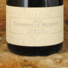 Chambolle-Musigny Premier Cru - Les Plantes 2012 étiquette - Amiot-Servelle