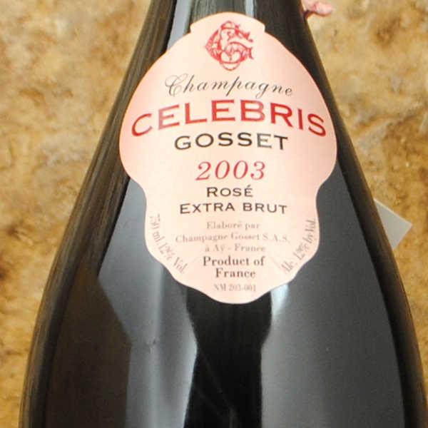 Champagne Gosset - Célébris Rosé 2003 étiquette