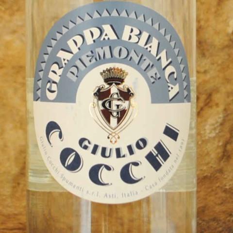 Grappa Bianca Piemonte - Giulio Cocchi étiquette