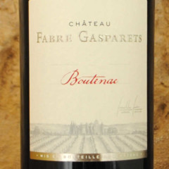 Corbières Boutenac - Château Fabre Gasparets étiquette