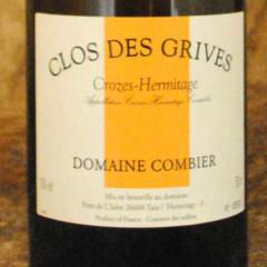 Crozes Hermitage - Clos des Grives blanc - Domaine Combier étiquette
