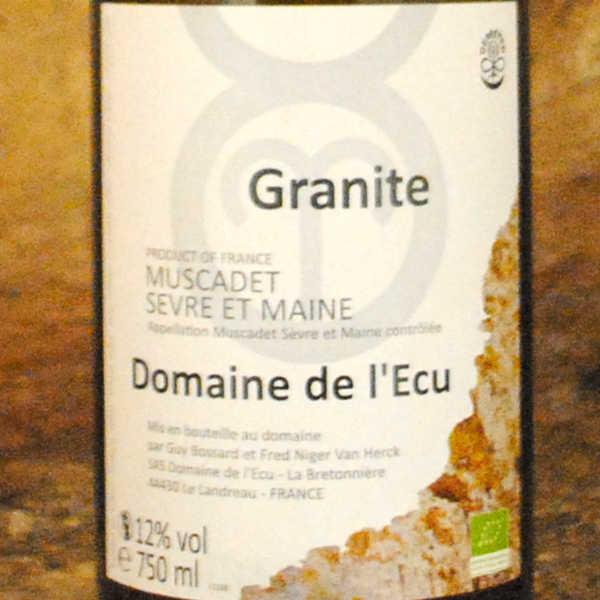 Muscadet sèvre et maine - Granite 2013 - Domaine de l'écu étiquette