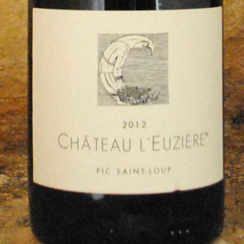 Pic Saint Loup 2012 - Château l'Euzière étiquette