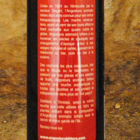 Angostura bitter étiquette