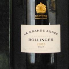 Champagne Bollinger - La Grande Année 2005 étiquette