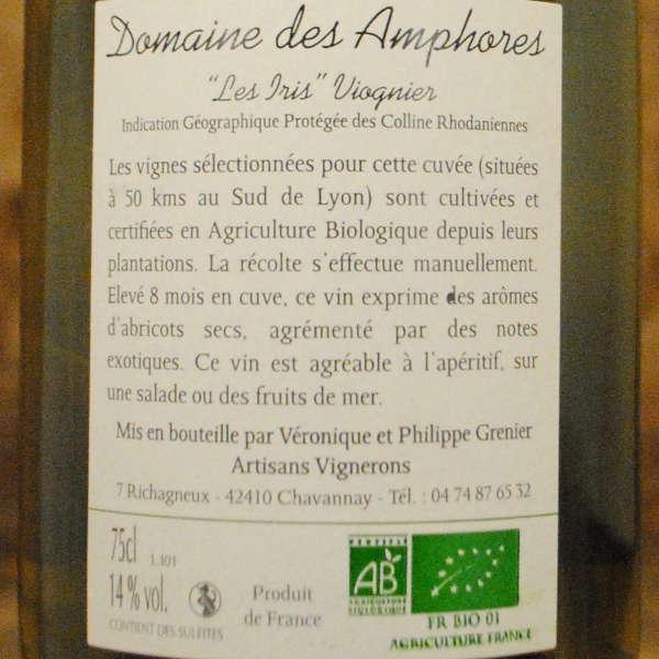 Domaine des Amphores Les Iris Viognier étiquette