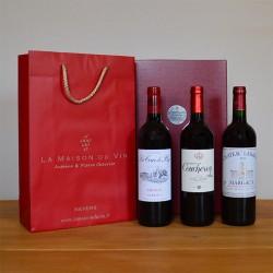 Coffret vin cadeau bordeaux