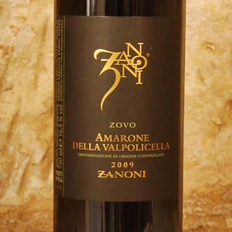 Amarone della Valpolicella - Zanoni 2009 étiquette