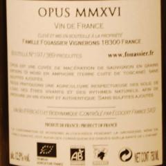 Sancerre Opus Domaine Fouassier étiquette